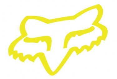 Adesivi Fox Racing Shox Testa di Volpe Giallo 5cm Fluo