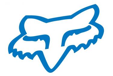 Fox Head Stickers 10cm Blue