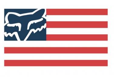 Adesivi con bandiera Fox Racing Shox Fox