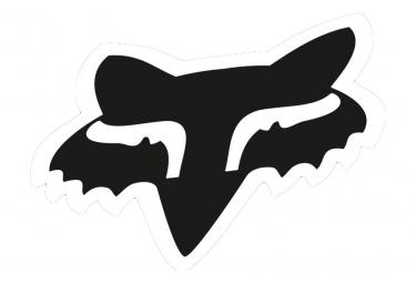 Fox Racing Shox Fox Head 7'' Sticker Black