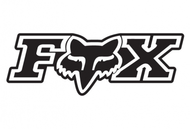 Stickers Fox Racing Shox Logo Fox 17.5cm Noir