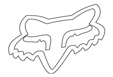 Fox Racing Shox Stickers Fox Head 25.5cm White