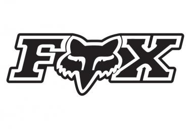 Sticker Fox Corporate 7.5 cm Noir