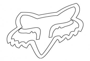 Fox Head Stickers 10cm White