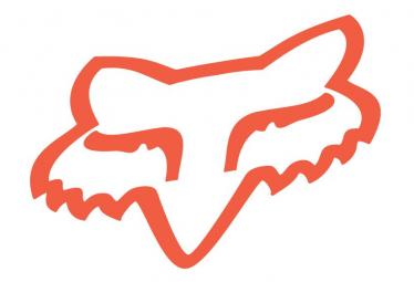 Fox Racing Shox Fox Head Neon Orange Stickers