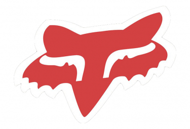 Adesivo Fox Racing Shox Fox Head 7'' Rosso