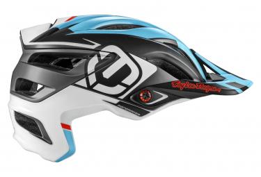 Casco Mondraker x Troy Lee Designs A3 Mips All Mountain Bianco / Blu