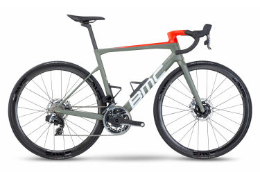 Bicicleta de carretera BMC Teammachine SLR01 Two Sram Red eTap AXS 12S 700 mm Gris Rojo 2022