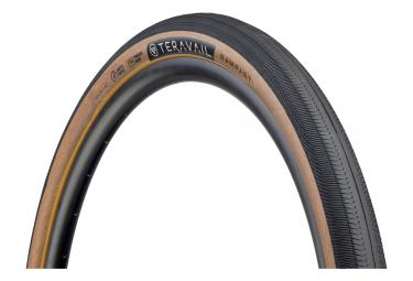 Teravail Rampart 650b - Neumático de grava Tubeless Ready, plegable, ligero y flexible, color tostado, flanco