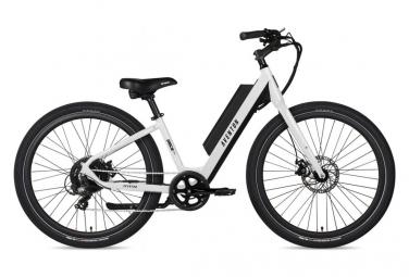 Bicicleta Electrica Urbana Aventon Pace 250 Step Trought Shimano Tourney 7s 250 Wh 650b Blanco 2021 S   155 172 Cm