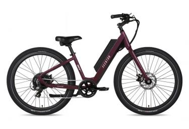 Bicicleta Electrica Urbana Aventon Pace 250 Step Trought Shimano Tourney 7s 250 Wh 650b Morado 2021 S   155 172 Cm