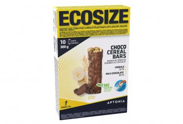 10 Barres Énergétiques Aptonia Céréales Enrobés Chocolat / Banane 30g