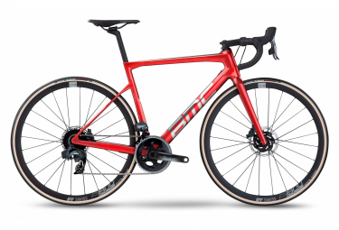 Bicicleta de carretera BMC Teammachine SLR Two Sram Force eTap AXS 12S 700 mm Rojo Iron Brushed 2022