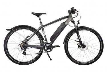 Bicicleta eléctrica Joseph Bicicleta urbana Shimano Altus 7S 417 Wh 700 mm Negro Gris oscuro 2021