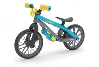 Draisienne 12 pouces Bmxie 03 moto bleu avec système de frein au pied Chillafish