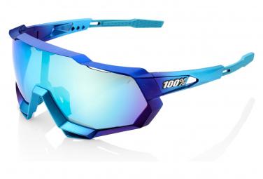 Occhiali da sole 100% Speedtrap metallizzati opachi in dissolvenza / topazio blu