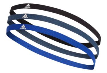 Bandeaux x3 adidas Hairband Noir / Bleu Unisex