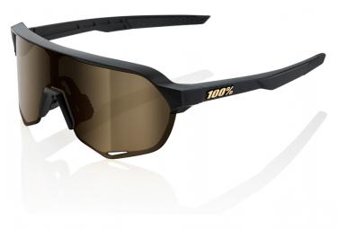 Gafas 100% S2 Negro Mate Lente Oro Suave