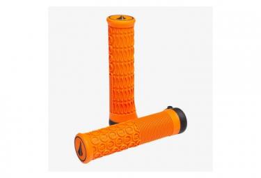 Poignées SDG THRICE 33 - 1PC Lock-on Orange, 136mm, 33mm OD, ergonomique