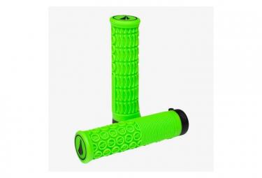 Poignées SDG THRICE 33 - 1PC Lock-on Neon Green, 136mm, 33mm OD, ergonomique