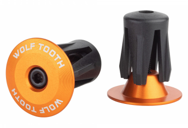 Wolf Tooth Alloy Bar End Plugs Orange