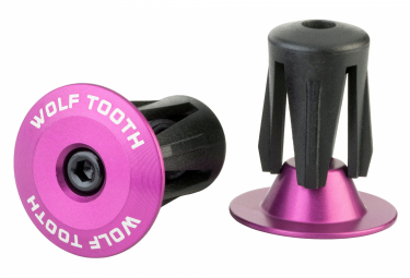 Wolf Tooth Alloy Bar End Plugs Purple