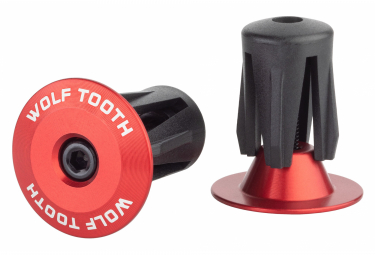 Wolf Tooth Alloy Bar End Plugs Red