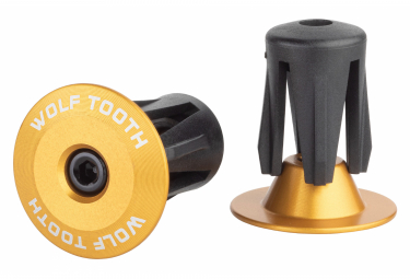 Wolf Tooth Alloy Bar End Plugs Gold
