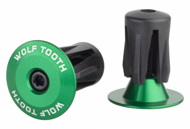 Wolf Tooth Alloy Bar End Plugs Green