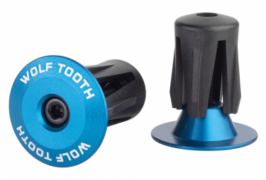Wolf Tooth Alloy Bar End Plugs Blue