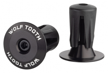 Wolf Tooth Alloy Bar End Plugs Black