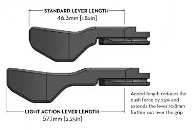 Commande de Tige de Selle Wolf Tooth ReMote Light Action Shimano IS-EV (Sans Câble/Sans Gaine) Noir