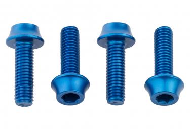 Lot de 4 Vis de Porte-Bidon Wolf Tooth Water Bottle Cage Bolts M5x15 mm Bleu