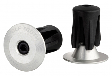 Wolf Tooth Alloy Bar End Plugs Silver