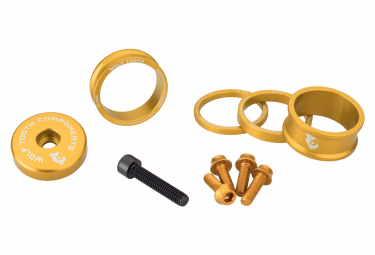 Wolf Tooth Anodized Color Kit (Headset Spacers, Stem Cap, Water Bottle Cage Bolts) Gold