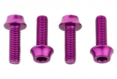 Wolf Tooth Flaschenhalterschrauben (x4) M5x15 mm Lila