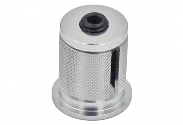 Wolf Tooth Compression Plug with Integrated Spacer Stem Cap 1 1/8'' Silver