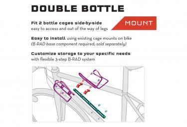 Adaptateur Double pour Porte-Bidon Wolf Tooth B-RAD Double Bottle Adapter Noir