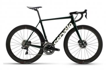Vélo de Route Cervélo R5 Disc Shimano Dura Ace Di2 11V Vert/Blanc/Or 2021