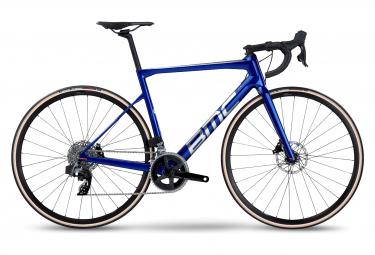 Bici da strada BMC Teammachine SLR Four Sram Rival eTap AXS 12V 700mm blu spazzolato 2022