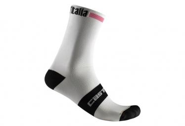 Calze Castelli ROSA Giro 13 Bianche / Rosa / Nere