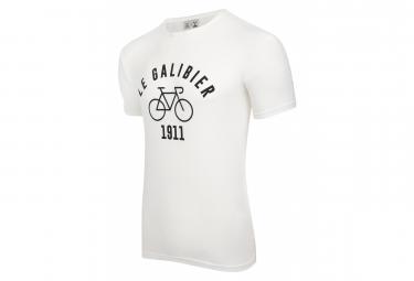 T-Shirt Manches Courtes LeBram & Sport d'Epoque Le Galibier Marshmallow / Blanc