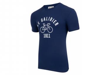 LeBram & Sport Vintage Le Galibier T-Shirt Manica Corta Blu Scuro
