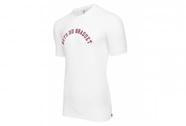 T-Shirt Manches Courtes LeBram Mets du Braquet Marshmallow Blanc