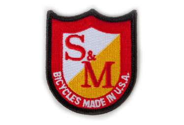 S and M Shield Patch Red / White / Yellow