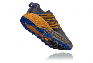 Chaussures de Trail Hoka One One Speedgoat4 Bleu / Jaune