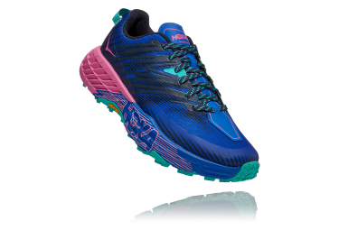 Women's Hoka Speedgoat 4 Trail Shoes Blue Pink Green
