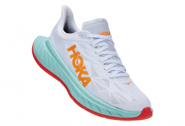 Hoka Carbon X 2 Running Shoes White Orange Mens