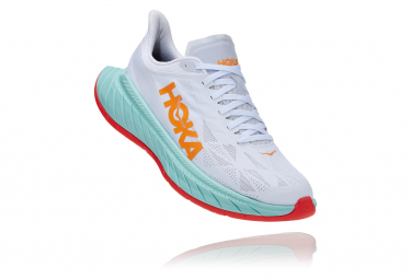 Zapatillas Hoka One One CarbonX2 para Mujer Blanco / Naranja