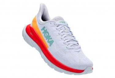 Chaussures de Running Hoka One One Mach 4 Blanc / Orange